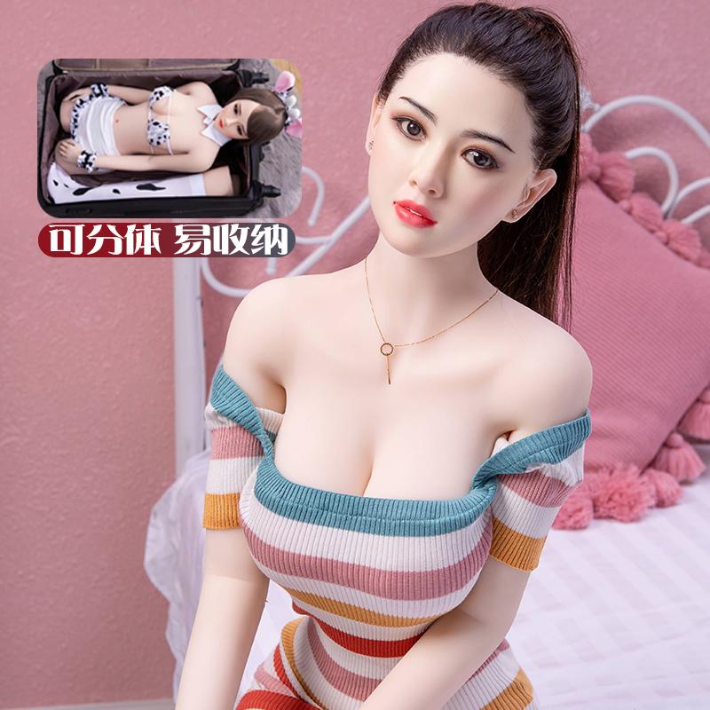 全硅胶真人男用高级充气女娃美女实体娃娃