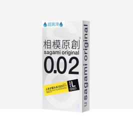 sagami相模原创超薄避孕套男大号002聚氨酯安全套超爽滑大码4片装