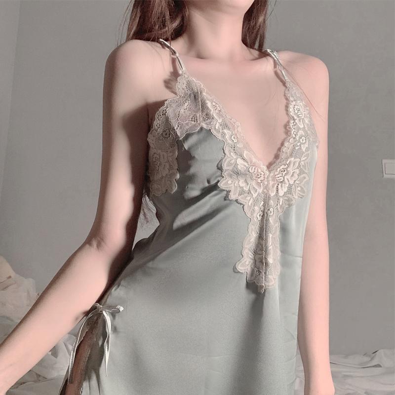 诱惑睡衣挑逗透明小胸性感睡裙