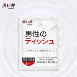 日本进口涩井男用延时湿巾12片装