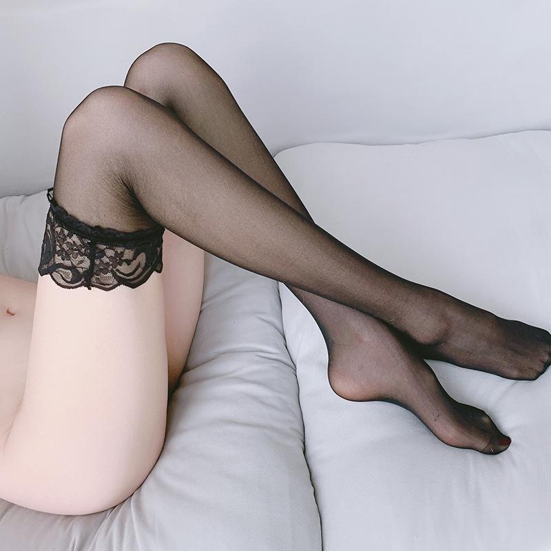 性感情趣内衣女性开档丝袜透明火辣透明免脱激情套装可撕长筒黑色