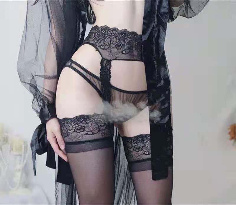 情趣丝袜内衣诱惑宫廷吊袜丝袜性趣内衣裤激情开档内衣黑丝搭配